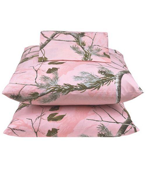Karin Maki Realtree APC Pink XL Twin Sheet Set