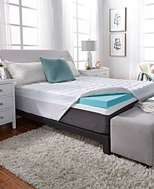 """3.5"""" Comforpedic from Beautyrest Nrgel Queen Memory Foam with Fiber Topper Cover"""