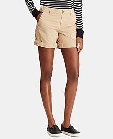 Lauren Ralph Lauren Featherweight Twill Cotton Shorts