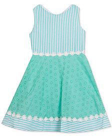 Rare Editions Toddler Girls Seersucker & Eyelet Dress