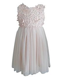 Little Girls Butterfly Tulle Dress