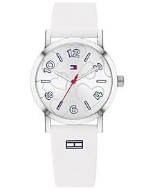 Women's White Silicone Strap Watch 32mm  Created for Macy's
