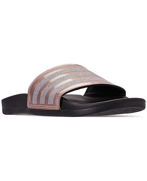 d7e80624a228 adidas Women s Adilette Slide Sandals from Finish Line   Reviews ...