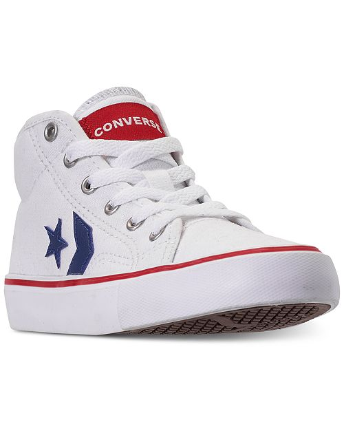 d8b9a9b19f7d Converse Little Boys  Star Replay High Top Casual Sneakers from ...