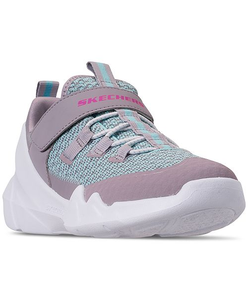 Skechers Little Girls' D'Lites DLT-A Slip On Strap Casual Sneakers from Finish Line