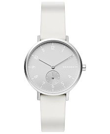 Skagen Aaren Kulor Aluminum Silicone Strap Watch 36mm