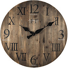 Firstime and Co. Rustic Barnwood Wall Clock