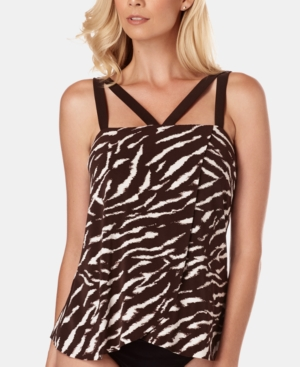 Magicsuit Suits ON SAFARI MICHELLE RUFFLED TANKINI TOP WOMEN'S SWIMSUIT