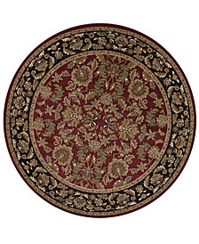 "Cambridge Kashan 7'7"" Round Area Rug"