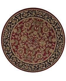 "KAS Cambridge Kashan 7'7"" Round Area Rug"
