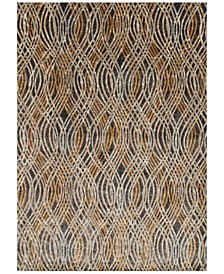 "Dreamscape DM-02 Charcoal/Gold 7'10"" x 11' Area Rug"