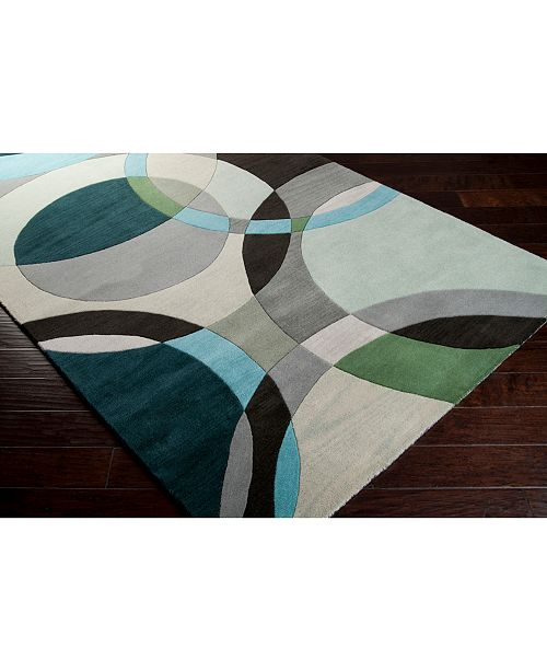 "Surya Forum FM-7157 Dark Green 18"" Square Swatch"