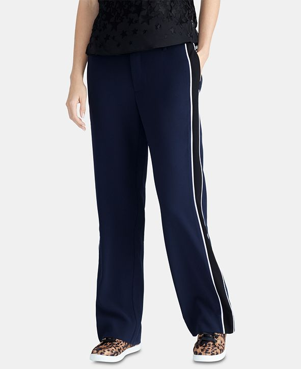 RACHEL Rachel Roy Trendy Plus Size Piped-Trim Pants