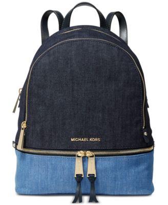 Rhea Denim Zip Backpack, Created for Macy's