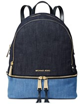 51993ebe89fa MICHAEL Michael Kors Rhea Denim Zip Backpack, Created for Macy's