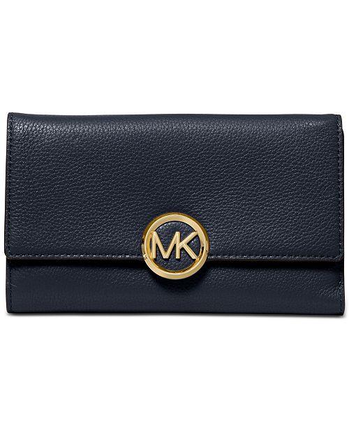 Michael Kors Lillie Pebble Leather Carryall Wallet