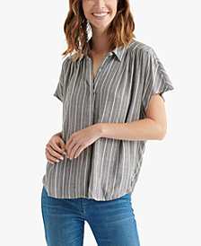 Lucky Brand Striped Short-Sleeve Shirt