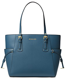 Voyager East West Crossgrain Leather Tote
