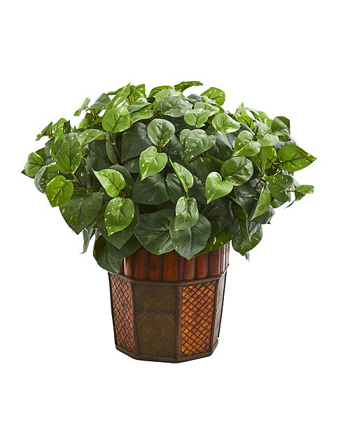 Nearly Natural Pothos Artificial Plant in Decorative Planter