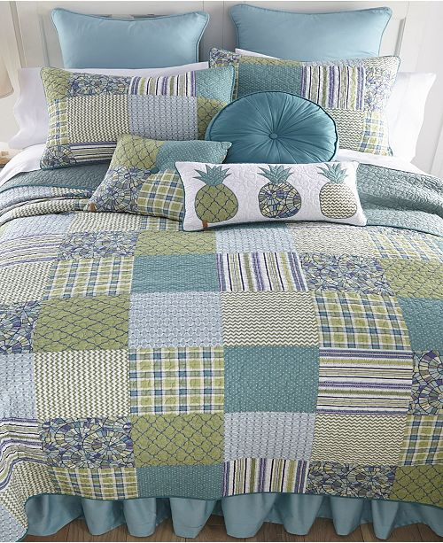 American Heritage Textiles Riptide Patch Cotton Quilt Collection, Queen