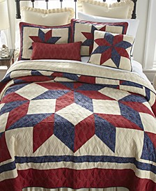 Gatlinburg Star Cotton Quilt Collection, Queen