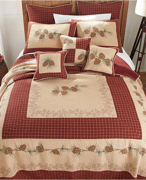 American Heritage Textiles Pine Lodge Cotton Quilt Collection, Queen