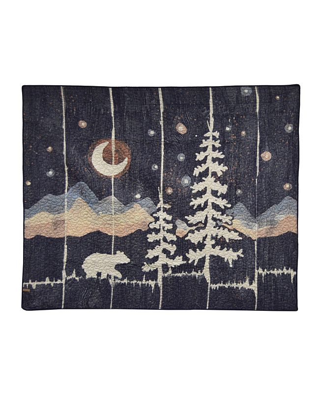 American Heritage Textiles Moonlit Bear Cotton Throw