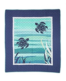 Summer Surf Quilted Cotton Throw