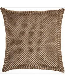 Inspire Me! Home Decor Beaded Lattice Taupe Throw Pillow