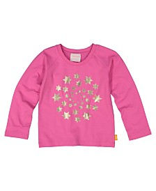 Masala Baby Girls Organic Cotton Circle of Stars Tee