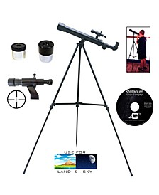 500 X 45 Student Telescope and Cross Hair Finder Scope and Stellarium CD ROM