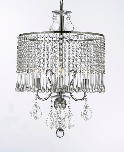 Harrison Lane Empress 3-Light Chrome Crystal Chandelier