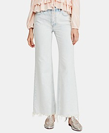 High-Rise Flare-Leg Light Wash Jeans