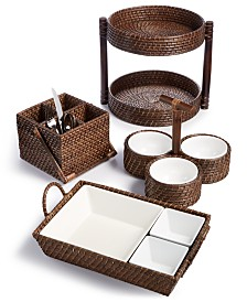 Capri Isle Rattan Serveware Collection