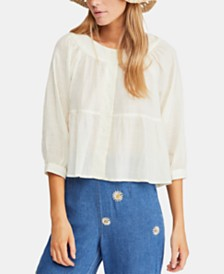 Free People Sea To Shore Solid Top