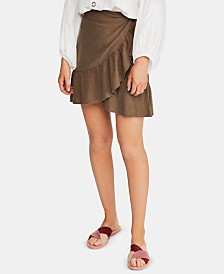 Free People Ruffle My Feathers Ruffled Wrap Skirt
