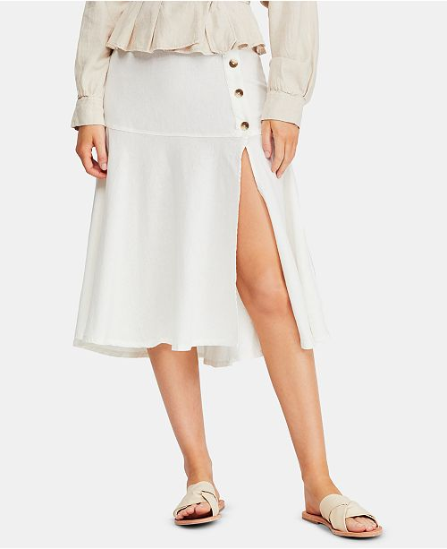 Free People Poppy Flared Midi Skirt