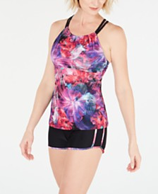 GO by Gossip Digital Floral Tankini Top and Swim Shorts