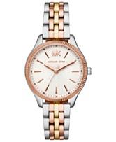 d4741256d752 Michael Kors Women s Lexington Tri-Tone Stainless Steel Bracelet Watch 36mm