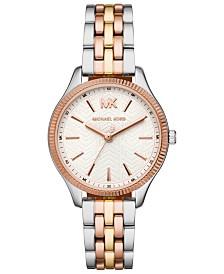 3b370c0bf112 Michael Kors Women s Pyper Tri-Tone Stainless Steel Bracelet Watch ...