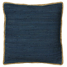 LR Home Riley Jute Flange Throw Pillow