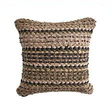 Khaki Chevron Striped Throw Pillow