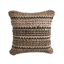 LR Home Khaki Chevron Striped Throw Pillow