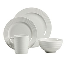 Ligne Blanc 16 Piece Dinnerware Set