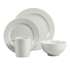 Over and Back Ligne Blanc 16 Piece Dinnerware Set