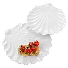 Shell Plates, Set Of 2