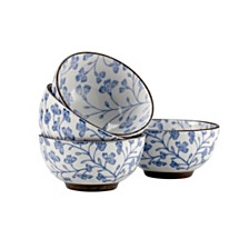 Over and Back Blossom Rice Bowls - Set Of 4