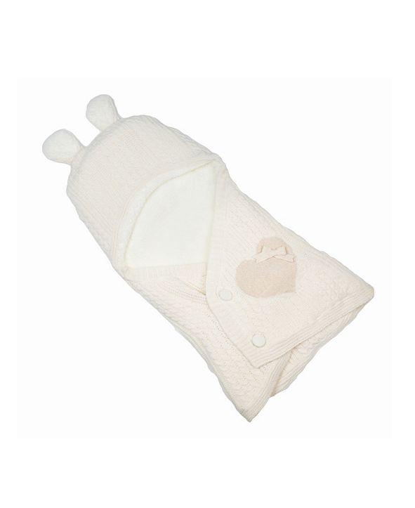 Nipperland Happy Bear Knitted Baby Sleep Bag Blanket