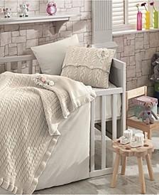 Rozy Premium 6 Piece Crib Bedding Set