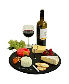 Selva Slate Cheese Board Serving Tray, Write On with 2 Chalks